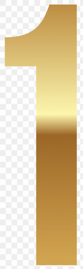 Golden Number One Clipart Image - Paper Yellow Design Pattern PNG
