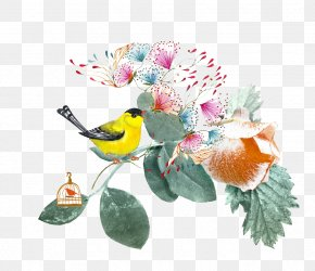 Watercolor Painting Birds - Watercolor Painting PNG