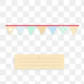 Beige Notes Section And Bunting - Paper Yellow Area Pattern PNG