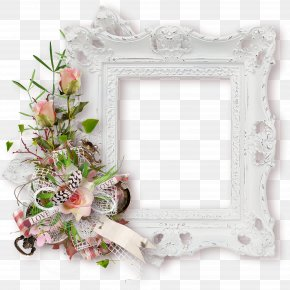 Bouquet White Pattern Frame - Picture Frame White Pattern PNG
