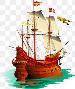 Pirate Ship - Galleon Sailing Ship Piracy Clip Art PNG