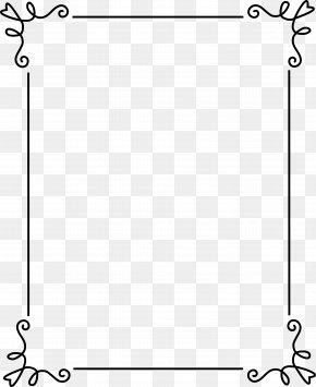 Frame Outline Cliparts - Picture Frame Ornament Clip Art PNG