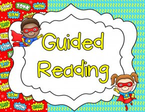 Superhero Reading Cliparts - Guided Reading Student Free Content Clip Art PNG