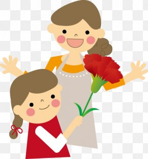 Mother And Child - Mother's Day Carnation Gift Child PNG