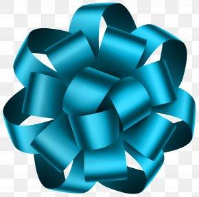 Blue Deco Bow Transparent Clip Art Image - Blue Clip Art PNG