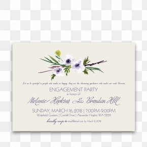 Floral Invitation - Wedding Invitation Flower Violet Lilac Lavender PNG