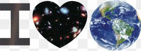Earth - Earth Pale Blue Dot Heart Hubble Extreme Deep Field PNG