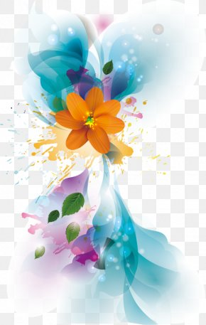 Watercolor Flowers Vector - Flower Euclidean Vector Art PNG