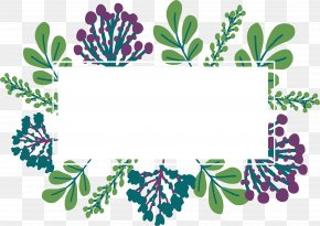 Green Cute Leaf Title Box - Download Content Computer File PNG