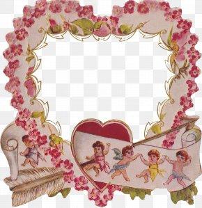 Vintage Frame - Picture Frames Heart Valentine's Day Desktop Wallpaper PNG