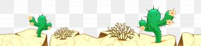 Desert Ground With Cactuses Clipart Picture - Desert Clip Art PNG