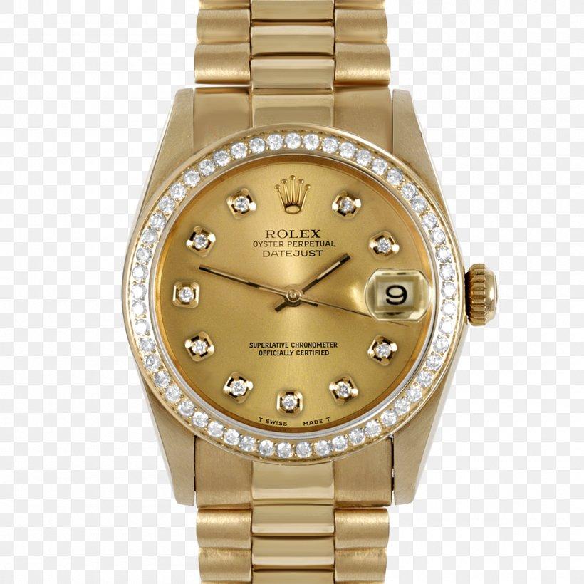 Rolex Datejust Rolex Daytona Watch Gold, PNG, 1000x1000px, Rolex Datejust, Bling Bling, Brand, Breitling Sa, Colored Gold Download Free