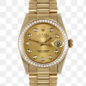 Rolex - Rolex Datejust Rolex Daytona Watch Gold PNG