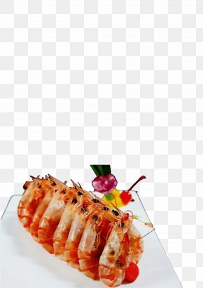 Spanish Cuisine Japanese Cuisine - Shrimp Cartoon PNG
