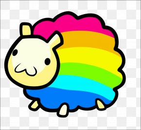 Sheep Pictures Cartoons - Sheep T-shirt Rainbow Sticker Drawing PNG