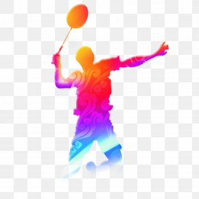 Cool Color Badminton Players - Badminton Racket Sport Tennis PNG