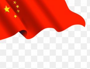 Five-star Red Flag Flying - Flag Of China National Day Of The Republic Of China National Flag PNG