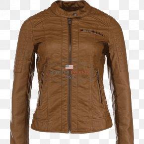 Jacket - Leather Jacket Clothing Tan PNG