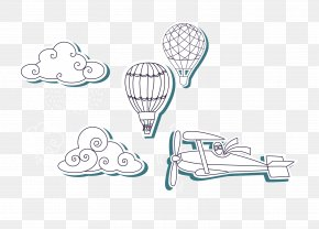 Vector Clouds - Airplane Euclidean Vector Cloud PNG