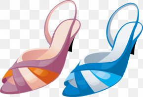 Vector Creative Design Diagram Ms. Heeled Sandals - Shoe High-heeled Footwear Icon PNG