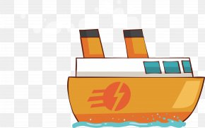 Cartoon Delivery Ship - Ship Cartoon PNG
