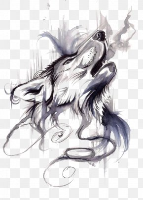 Wolf - Gray Wolf Tattoo Ink Flash Drawing PNG