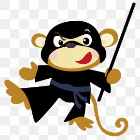 Magic Monkey - Cartoon Monkey Clip Art PNG