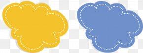 Yellow Clouds Dialog - Dialog Box Dialogue Designer PNG