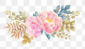 Peony Flower Watercolor Painted Floral Elements - Flower Watercolor Painting PNG