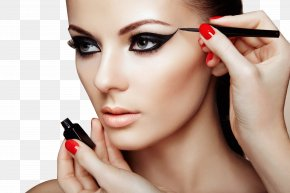Painted Eyeliner Makeup - Cosmetics Make-up Artist Beauty Parlour Eye Liner PNG