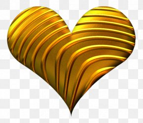 Symbol Yellow - Love Heart Symbol PNG