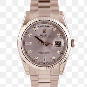 Watch - Rolex Day-Date Watch Strap Platinum PNG