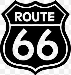 Route - U.S. Route 66 Car Sticker Wall Decal PNG