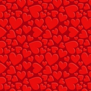 Red Love Heart-shaped Shading PNG