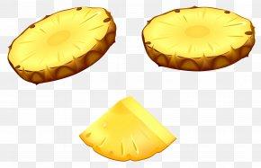 Pineapple Slices Vector Clipart Image - Upside-down Cake Pineapple Slice Fruit Clip Art PNG