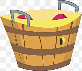 Waste Container Bucket - Clip Art Yellow Bucket Waste Container PNG