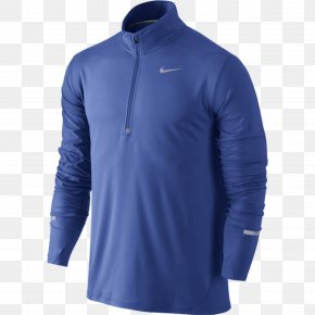 T-shirt - T-shirt Hoodie Nike Blue PNG