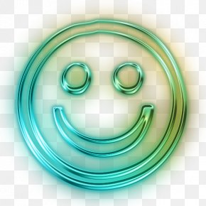 Happy Face ICon - Smiley Desktop Wallpaper Face Neon Sign PNG