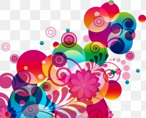 Abstract Color Flowers Balloons - Abstraction Flower Clip Art PNG