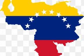 Map - Flag Of Venezuela Map National Flag PNG