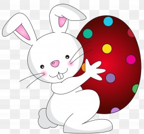 White Easter Bunny Transparent Clip Art Image - Easter Bunny Clip Art PNG