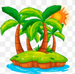 Island - Vector Graphics Stock Illustration Clip Art Image PNG