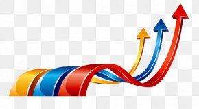 Curved Arrow Color Curve - Business Development Investment Sales PNG