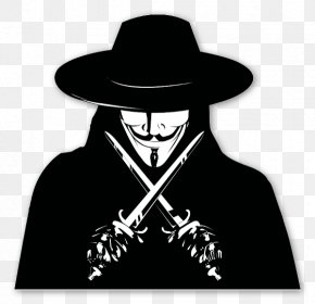 V For Vendetta - V Sticker Guy Fawkes Mask PNG
