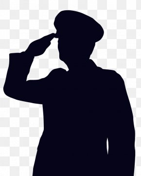 Soldier Saluting Cliparts - Soldier Salute Drawing Veteran Clip Art PNG