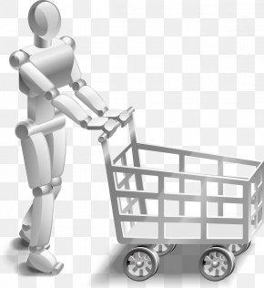 Shopping Cart - Shopping Cart Robot Clip Art PNG