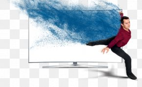 Satellite Television - LCD Television Figure Skating Television Set PNG