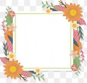 Romantic Flower Title Box - Floral Design Flower Euclidean Vector Picture Frames PNG