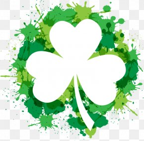 Drawing Ink Clover - Shamrock Saint Patricks Day Free Content Clip Art PNG