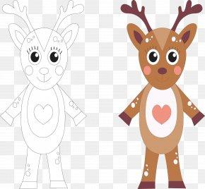 Cartoon Deer Coloring - Drawing Stock Illustration Cartoon Illustration PNG